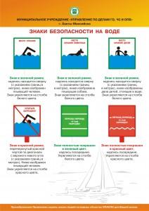 знаки безопасности на воде
